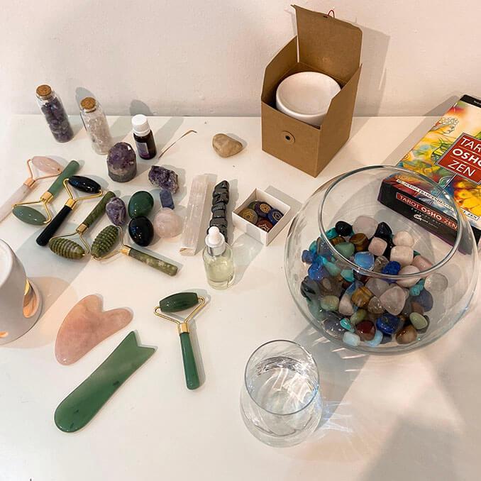 Reflexología podal con cristales - El Círculo de la Belleza